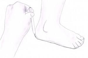 Fußgröße messen 1